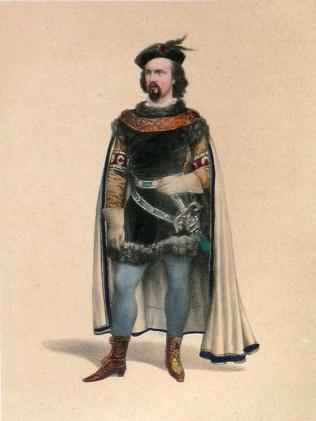 Wolfram von Eschenbach. Painting by Franz Betz