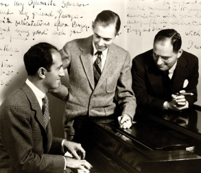 From left to right, George Gershwin, 1898 – 1937; DuBose Heyward, 1885 – 1940; and Ira Gershwin, 1896 – 1983.