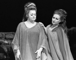 Metropolitan Opera Norma 1973 Metropolitan Opera's production of 'Norma' starring Montserrat Caballé, John Alexander, Fiorenza Cossotto, and Giorgio Tozzi in February 1973. Photo by Jack Mitchell/Getty Images